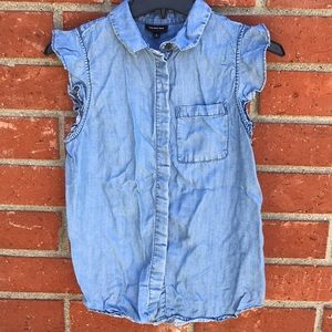 Who What Wear Chambray Blouse